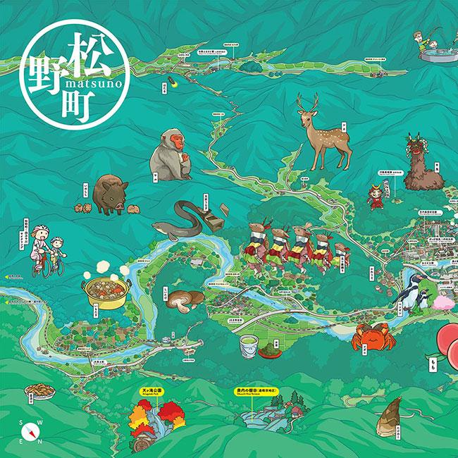 Matsuno-cho area illustration map