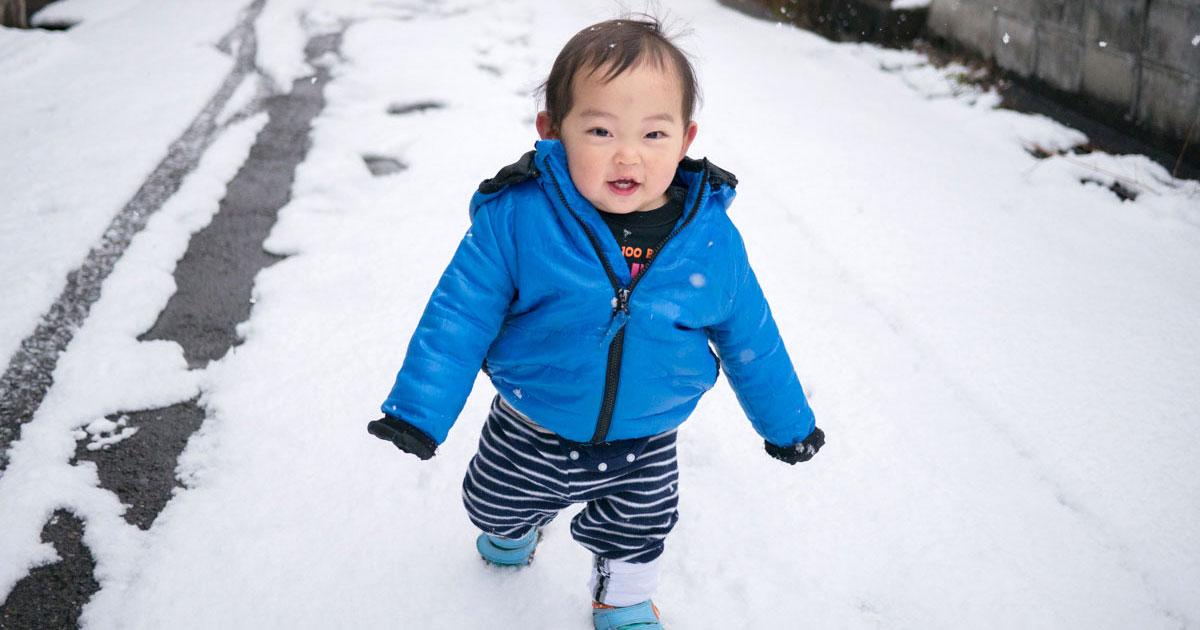 続・ひーくん雪にさわる!の巻