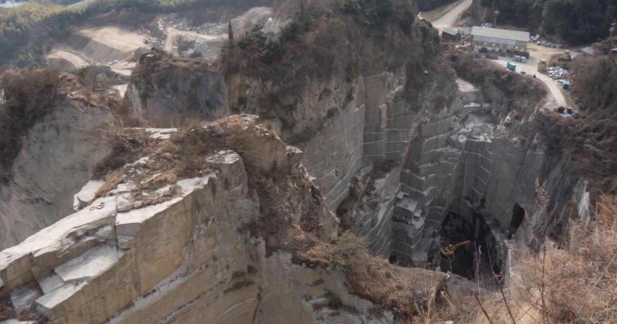 しまなみ海道④大島石の石切り場